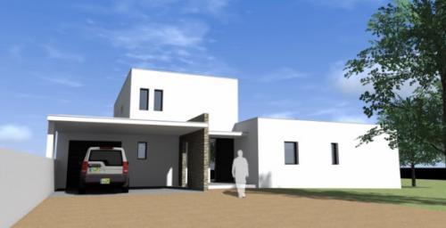 Maison contemporaine blauzac constructeur maison n mes for Maison moderne uzes