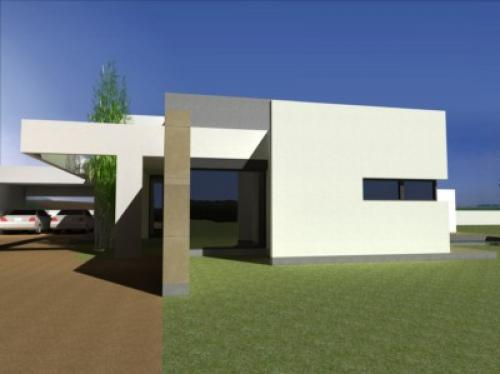 Maison contemporaine à la campagne