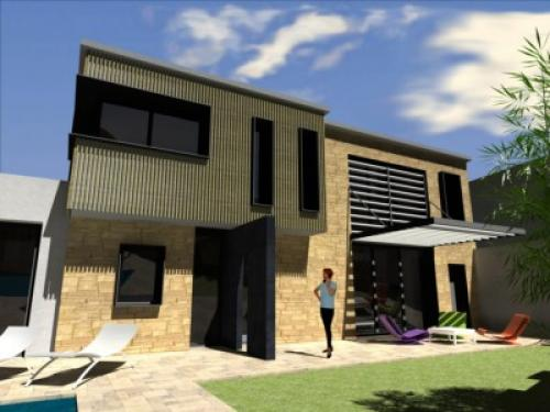 Maison de village contemporaine