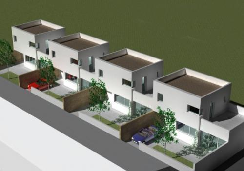 construction de 4 maisons en bandes constructeur maison n mes 30. Black Bedroom Furniture Sets. Home Design Ideas