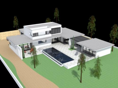 Maison Contemporaine à Langlade