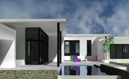 Maison contemporaine dans la Vaunage